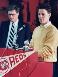 Murray Cook introducing Todd Benzinger - 1989