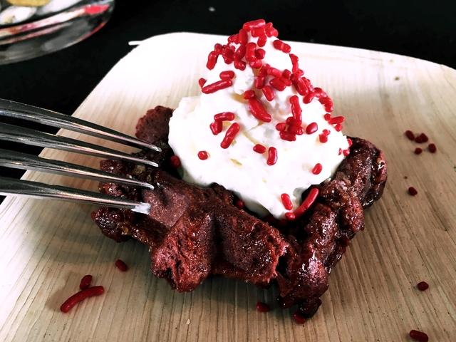 Taste of Belgium red velvet waffle / Photo: Brian Mains, WCPO