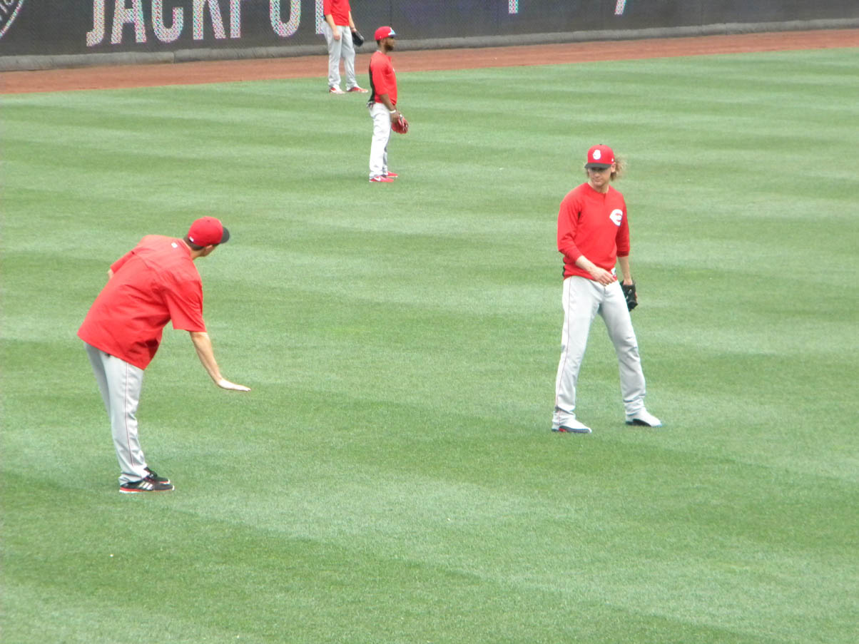 Homer and Bronson pre-game