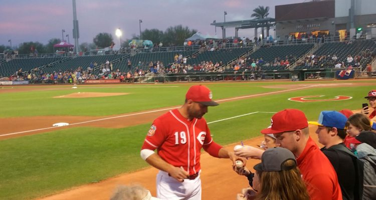 Joey Votto spring training autograph