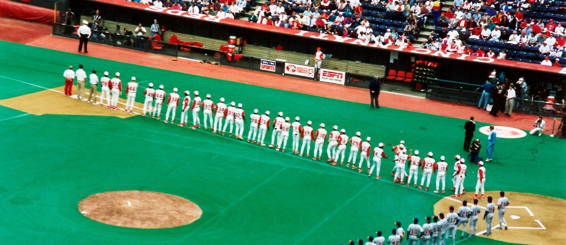 Cincinnati Reds 150 Throwback Uniforms - 1995 Edition - Redleg Nation